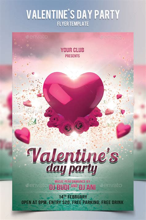 free valentines day flyer templates valentine s day flyer templates designs 2015