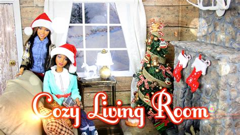 my froggy stuff living room diy how to make cozy doll living room realistic fireplace handmade doll crafts