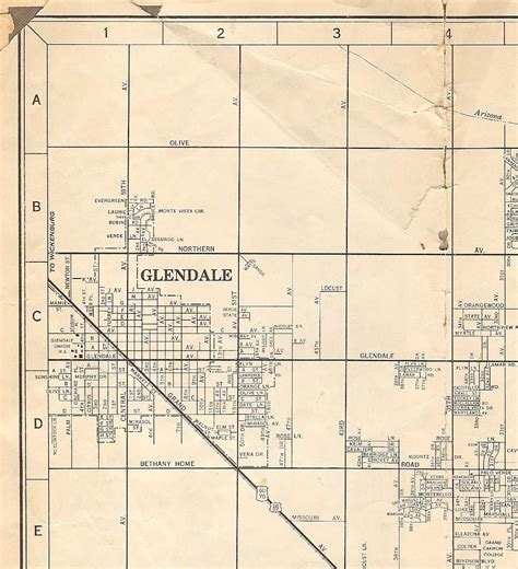 glendale arizona us map maps on