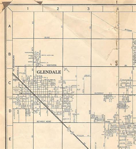 map of glendale arizona maps on