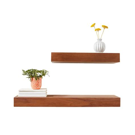 Floating Shelves walnut floating shelves the container store