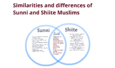 sunni shiite and sufi venn diagram similarities and differences of sunni and shiite muslims