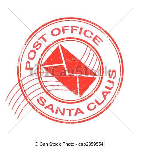 Post Office Address Search Post Office Santa Claus Grunge St With On Vector Eps