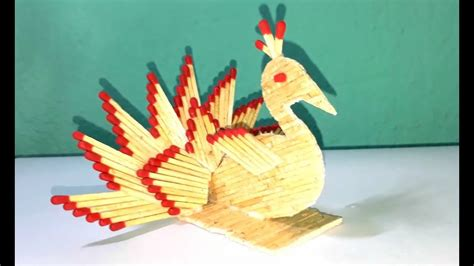 matchstick craft for matchstick how to make matchstick peacock peacock