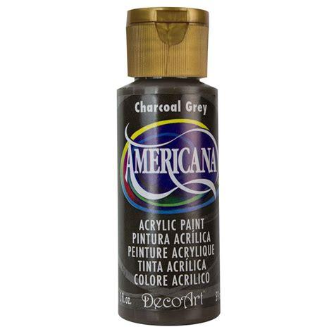acrylic paint grey decoart americana 2 oz charcoal grey acrylic paint dao88