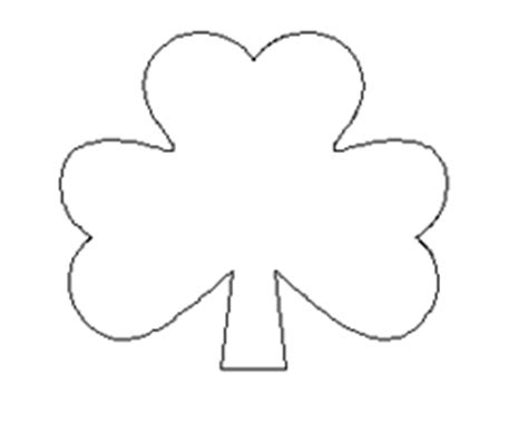 shamrock cut out template shamrock pasta craft