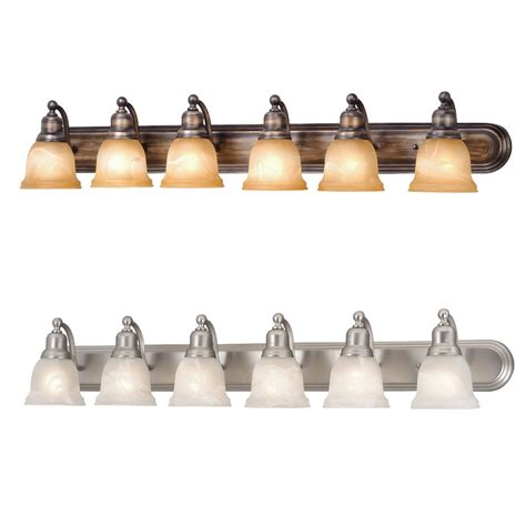 Bath Light Fixture Fill Your Bathroom Vanity With Dramatic Lights By Installing 6 Light Vanity Fixture Homesfeed