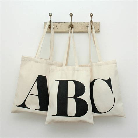 Initial Bag Free 6 Initial cotton initial tote bag by alphabet bags notonthehighstreet