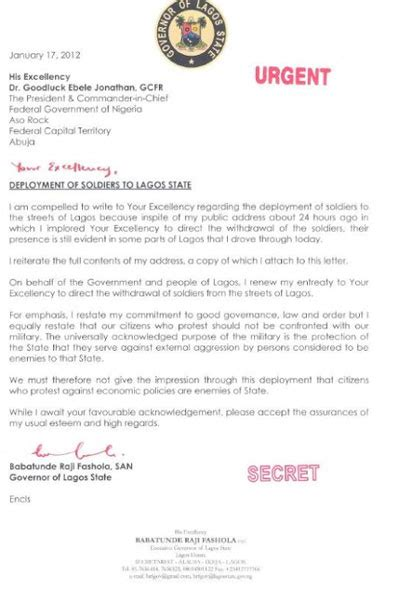 Deployment Letter