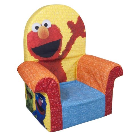 elmo table and chairs spin master marshmallow furniture high back chair elmo