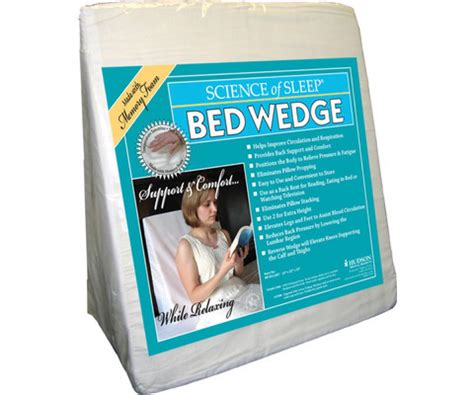 wedge bed pillow comfort with memory foam no 1 living memory foam bed wedge pillow 24 quot x 20 quot x 10 quot