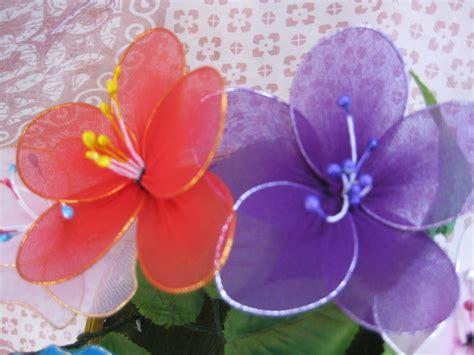 himaja s crafts stoking cloth flower basket