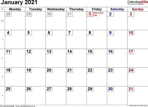 calendar january  uk bank holidays excelpdfword templates