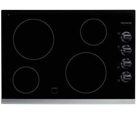frigidaire electric cooktops frigidaire 30 in radiant electric cooktop in stainless