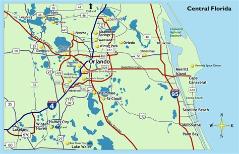central florida orlando area map location qgo places