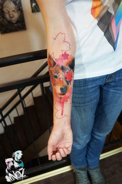 watercolor tattoo greece a pet owner so much she had this funky