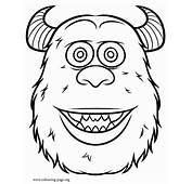 Monsters University  James P Sullivan Coloring Page