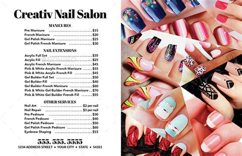 flyer templates nail salon nail salon flyer business card templates 2 by creativb