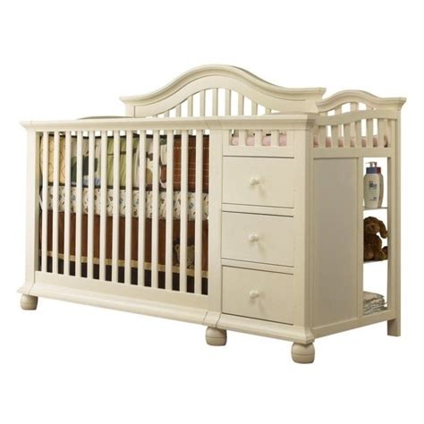 Sorelle Convertible Cribs Sorelle Cape Cod 4 In 1 Convertible Combo Crib In White 1091 Fw