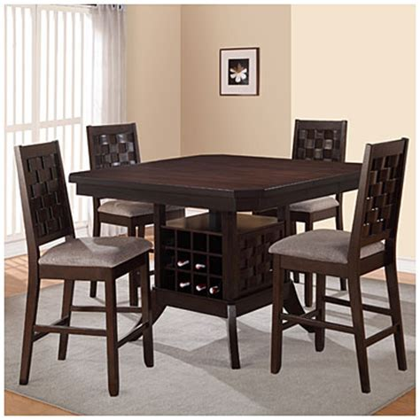 Dining Room Table With Wine Rack by 5 Pub Set With Wine Rack Big Lots