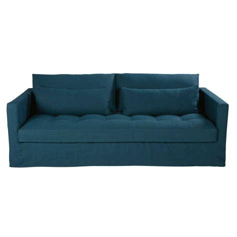 divano letto 4 posti divano letto 3 4 posti petrolio in lino lavato basile