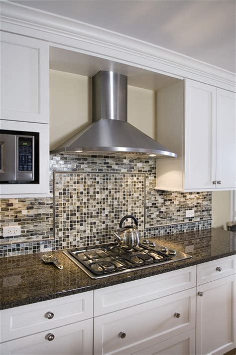 Glass Tile Kitchen Backsplash Ideas by Kitchen Chimney Hood Amp Backsplash Detail Contemporary