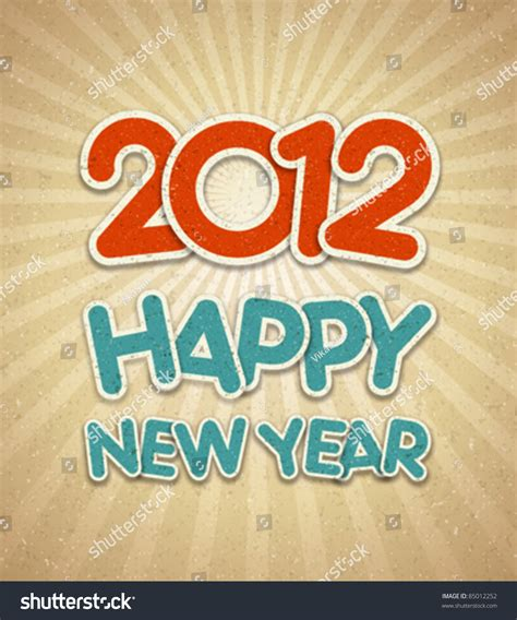 happy new year 2012 3d message stock vector 85012252