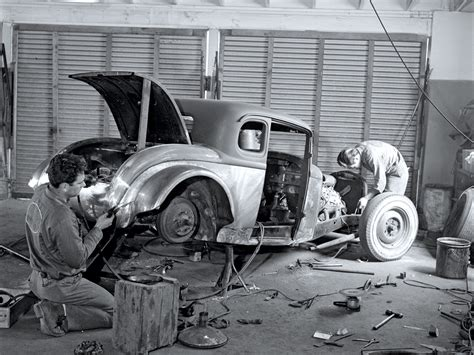vintage scene photos vintage photos of rod workshop action from the 1950s
