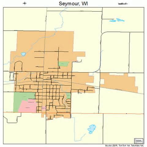 seymour map seymour wisconsin map 5572725