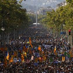 barcelona unrest thousands unite on barcelona streets for anti terror march