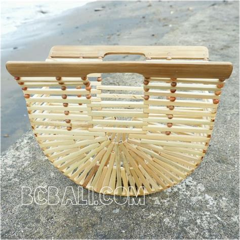 Handmade Bamboo - bamboo bags fan design base color summer season handmade