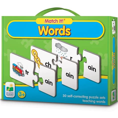 words match it learning puzzle educational toys planet