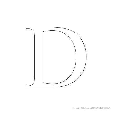 printable letter d stencil alphabet stencils to print times new roman free