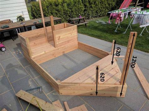 diy piratenschiff sandkasten garten pinterest