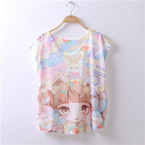 japanese pattern shirt 15 pattern ayumi girls short sleeve t shirt fashion cute