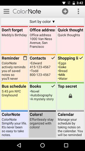 N Notes Pronto Color colornote notepad notes 綷