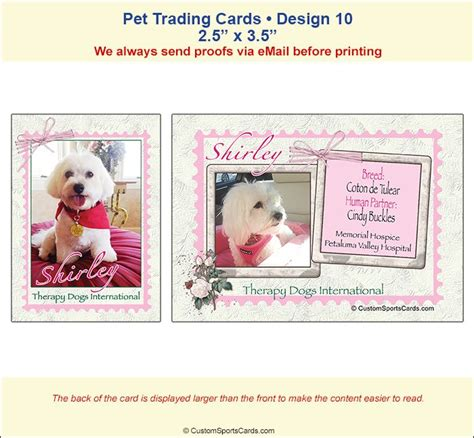 therapy trading cards template 1000 images about therapy dogs canine on