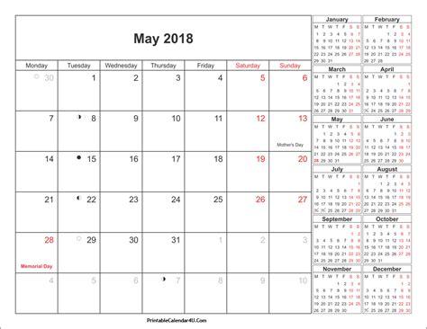 May 2018 Calendar May 2018 Calendar Printable With Holidays Pdf And Jpg