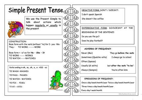 printable worksheets simple present tense present simple tense worksheet free esl printable