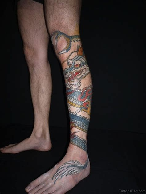 tattoo dragon leg 50 nice looking dragon tattoos for leg