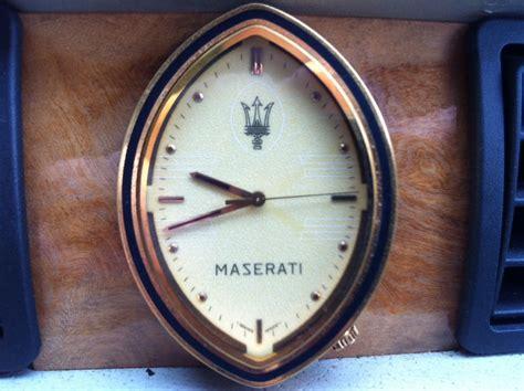 maserati biturbo clock maserati enthusiasts page
