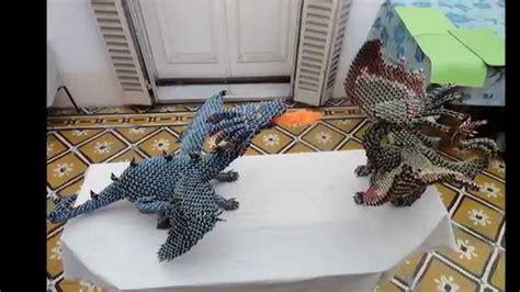 3d origami dragon tutorial youtube dragon de fuego origami 3d youtube