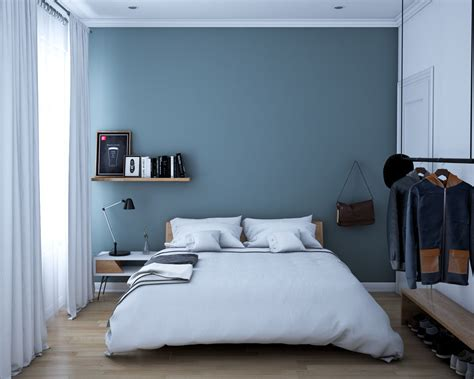 slate blue bedroom 3 homes that play with the contrast of black and white