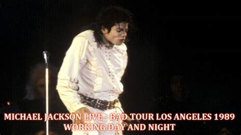 Watch Nights Beautiful Days 1989 Michael Jackson Bad Tour L A January 27th 1989 Working Day And Night Amateur Audio Hq