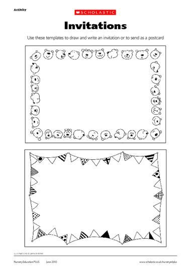 postcard template year 2 click to early years planning early years