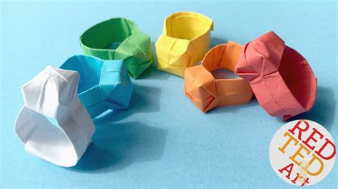 Easy Origami Ring - origami ring diy easy paper ring