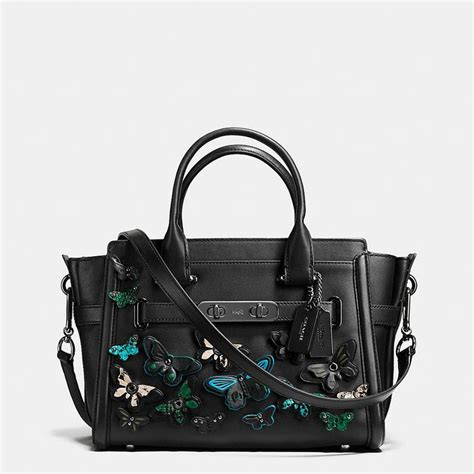Coach Swagger Bag By Bagladies butterfly applique coach swagger 27 in glovetanned leather