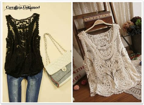 Back Rp 12500 N Black Blouse With Lace tees n tanks cowgirls untamed page 4