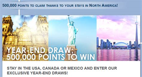 Sweepstakes In Canada - le club accorhotels 500 000 points sweepstakes in united states canada mexico