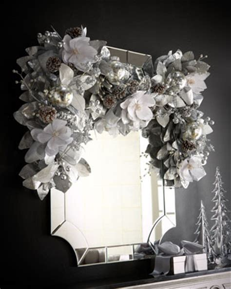 inspired silver and white window garland kittiekraft